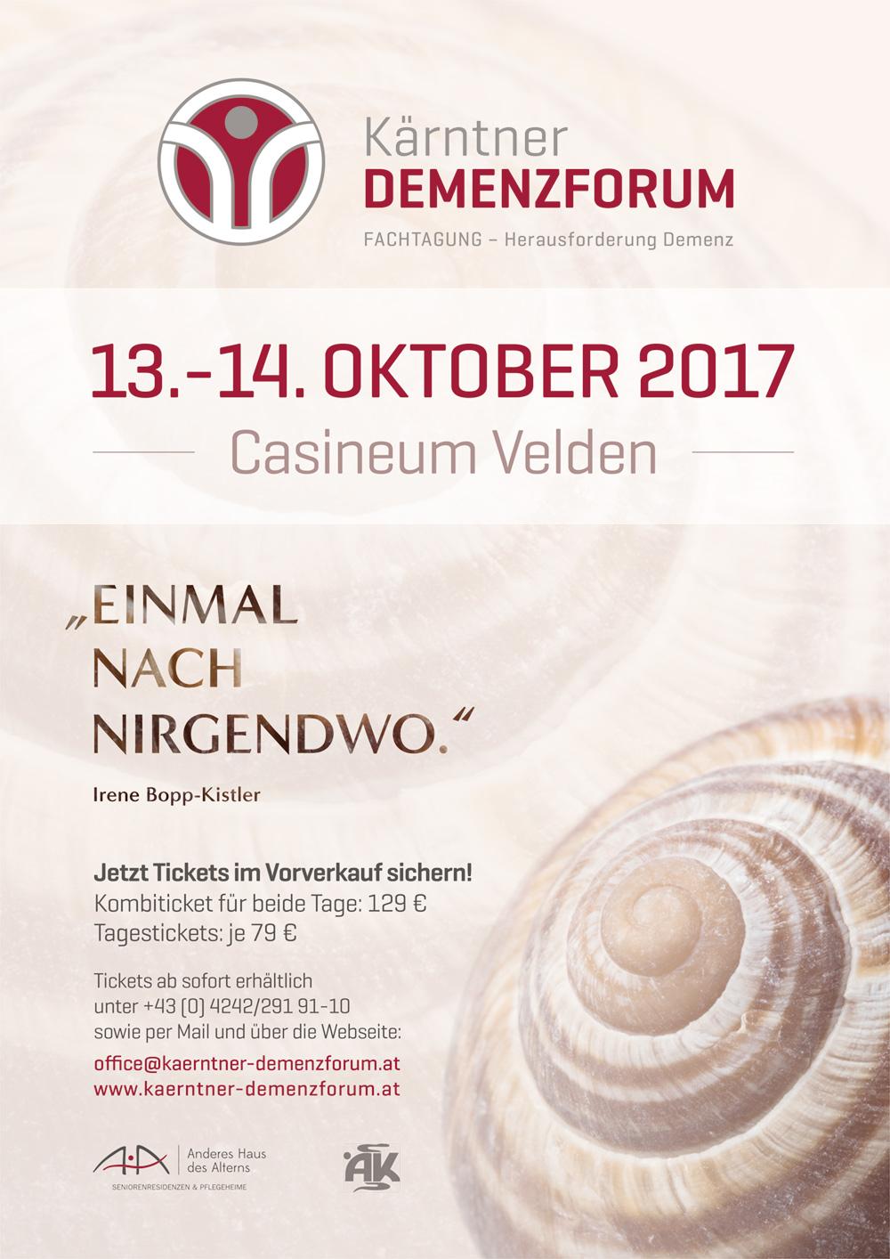 Plakat Kärntner Demenzforum 2017