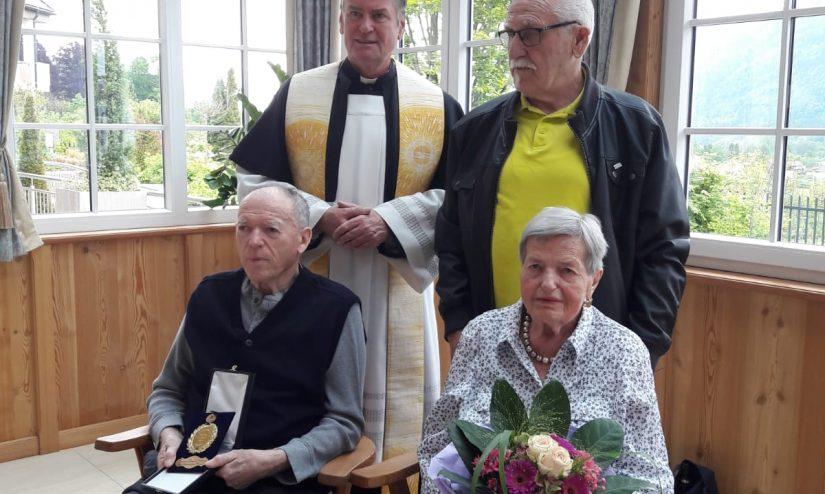 Diamantene Hochzeit des Ehepaars Buttazoni im AHA Seniorenzentrum Steindorf