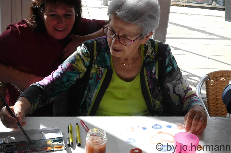 Malworkshop Lebenskunst Altern in der AHA Seniorenresidenz Seeboden